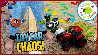 Cars for Kids   MEGA TOY CAR CHAOS!! Construction. Police. Hot Wheels. EVERYTHING!