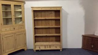 Attractive Old Pine Bookcase - Pinefinders Old Pine Furniture Warehouse