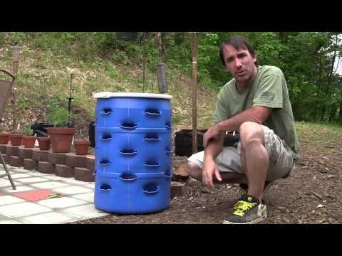 Vertical DIY Strawberry Planter