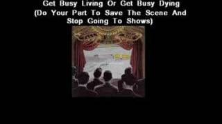 Watch Fall Out Boy Get Busy Living Or Get Busy Dying (do Your Part To Save The Scene And Stop Going To Shows) video