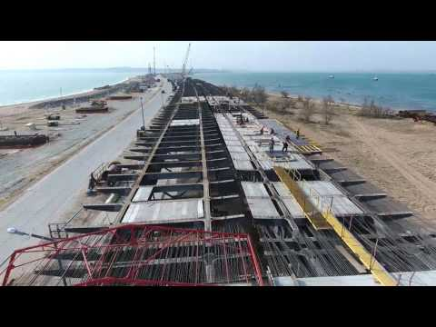 Строительство Крымского моста (съёмка с коптера) май 2017