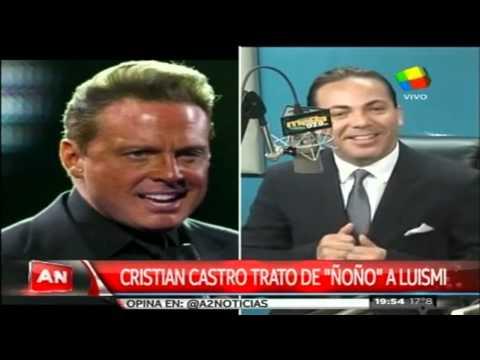 "Cristian Castro trató de ""Ñoño"" a Luis Miguel"