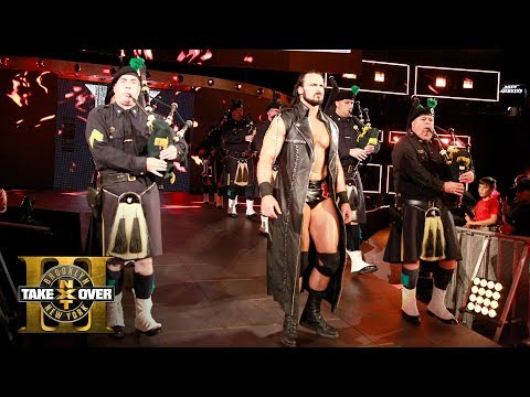 NYPD Pipes & Drums band leads Drew McIntyre's entrance to the ring: NXT TakeOver: Brooklyn III