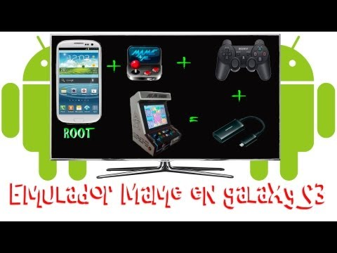 Tutorial Como jugar emulador MAME en Galaxy S3 con mando de PS3 + Cable HDMI en TV