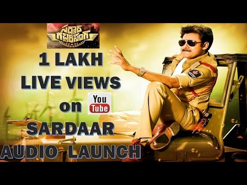 SARDAAR GABBAR SINGH BREAKS INDIAN FILM INDUSTRY RECORDS - 1 LAKH LIVE VIEWS DURING AUDIO LAUNCH