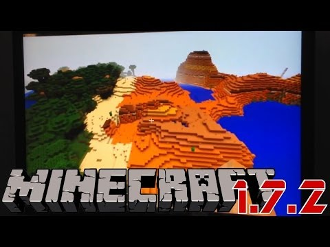 Mincraft 1.7.2 Review: New Biomes. Stained Glass Blocks. Ice. Flowers