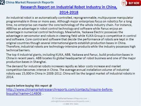 China Industrial Robot Industry 2018 Forecasts