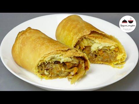 Пирожки наоборот   мало теста и много начинки  Минимальный вред для фигуры! Pies with cabbage