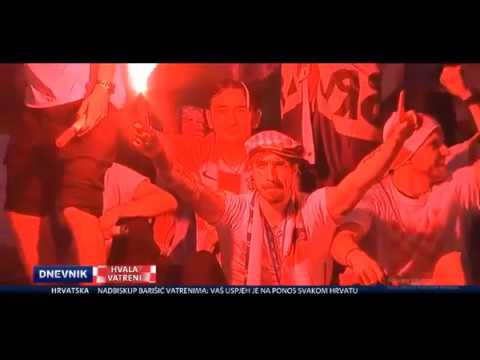Croatian fans (TITLES) welcome thier world cup team in Zagreb 16.07.2018 thumbnail