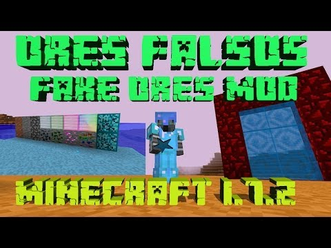 REVIEW DEL MOD FAKE ORES: NUEVA DIMENSION NUEVOS ENEMIGOS   MINECRAFT 1.7.2 y 1.7.10