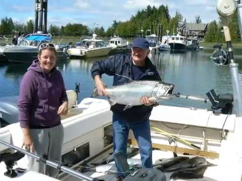 salmon and halibut fishing in ucluelet bc canada