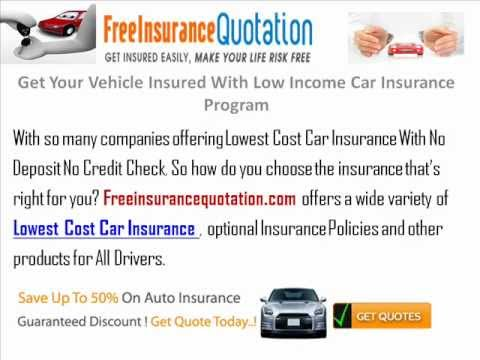 Get Your Vehicle Insured With Low Income Car Insurance Program