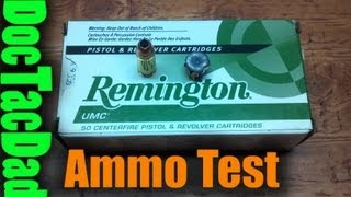 Remington UMC 115gr 9mm - Ammo Test
