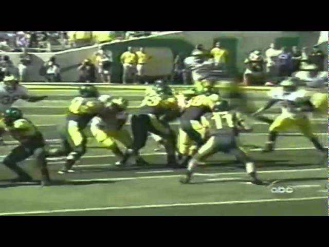 Oregon WR Kellen Taylor 15 yard reception vs. Michigan 9-20-03