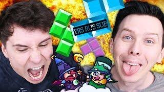 Dan vs. Phil - EXTREME TETRIS! rus sub