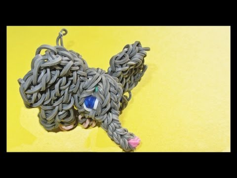 Rainbow Loom 3D Elephant Charm made with Loom Bands (loom animals)