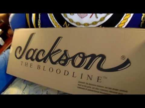 unboxing of Jackson Pro Soloist SL2Q MAH Electric Guitar. Transparent Blue