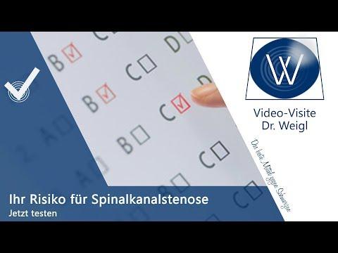 Selbsttest Diagnose Spinalkanalstenose & Rückenschmerzen: Diagnose ganz leicht testen & kontrolliere