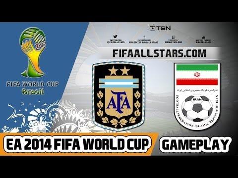 EA 2014 FIFA World Cup Argentina Vs Iran - Highlights