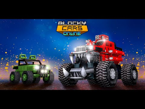 Blocky Cars - Online Shooting Game APK Cover