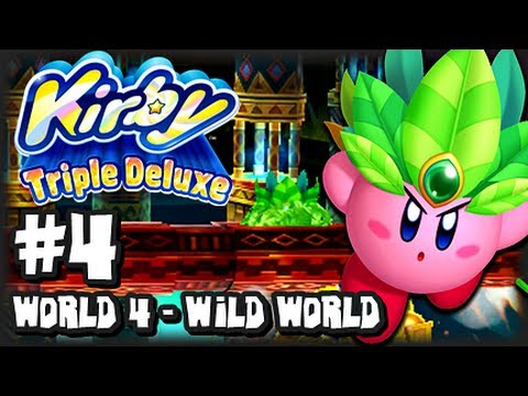 Kirby Triple Deluxe 3DS - (1080p) Part 4 - World 4 Wild World