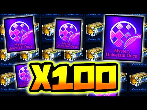 MYSTERY DECAL GUARANTEED?! ( 100 Nitro Crate Opening in Rocket League )