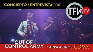 Out of Control Army Concierto / Entrevista TFKTV