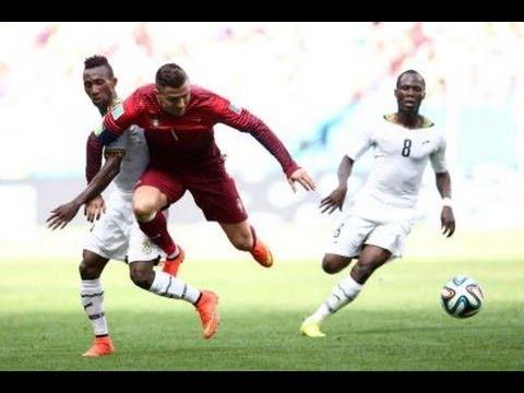 (World Cup 2014) Portugal vs Ghana 2-1 2014 Highlights goals Review (Cristiano Ronaldo scores goal)