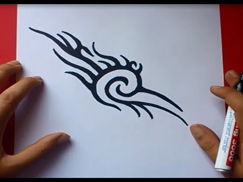 Como dibujar un tribal paso a paso 9 | How to draw one tribal 9 ...