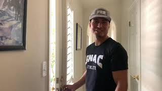 Mikey Garcia introduces us to his pit bulls at the camp house