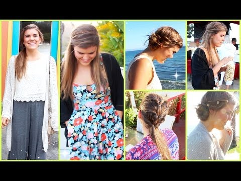 Simple & Easy NO HEAT Summer Hairstyles!