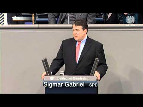 Sigmar Gabriels' Rede in der Mindestlohn-Debatte im Bundestag