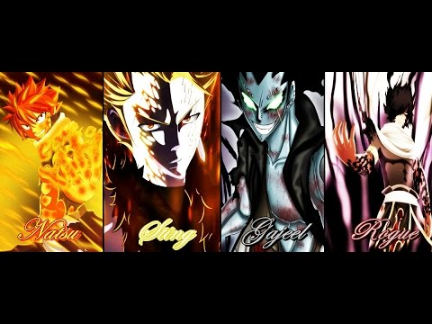 Fairy Tail [natsu- Gajeel Vs Sting-rogue] Opening 14 Full video