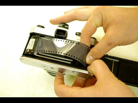 How to load film into 35mm Film Cameras