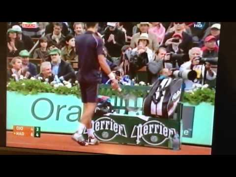 Novak Djokovic Smashes Racquet Against Chair in 2012 French Open final
