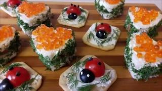 ЗАКУСКИ  на праздничный стол Красивые и вкусные закуски