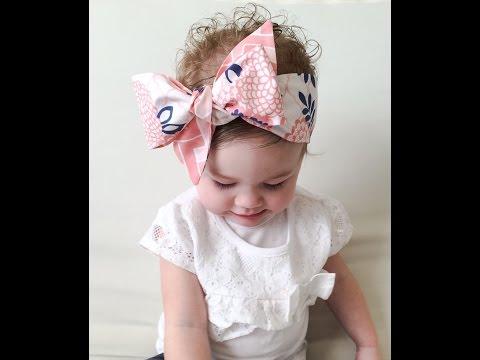 baby headband tutorial video