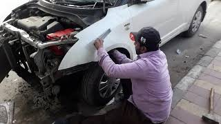 Shahid car denter Swift Dzire front accident right side Fender dry denting mobile number 9968009086