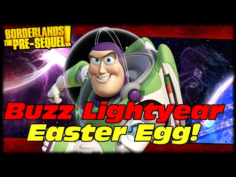 Borderlands Presequel Buzz Lightyear Easter Egg! Toy Story Easter Egg In Borderlands The Pre-sequel! video