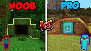 Minecraft NOOB vs. PRO: HIDDEN BUNKER in Minecraft!