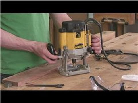 Wood Routers : How to Operate a Plunge Router