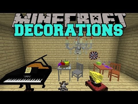 Minecraft: DECORATIONS (TOYS. FURNITURE. MUSICAL INSTRUMENTS. & MORE!) Mod Showcase