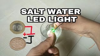 How to make salt water enargy light bulb used 10rs and 5rs coin | Technical somesh