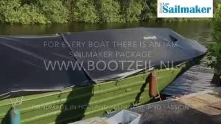 Bootzeil on site installation, armyboat 9 meters in 3 hours