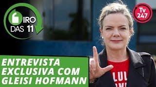 Gleisi Hoffmann no Giro das 11h: presidente do PT fala sobre a estratégia de Lula