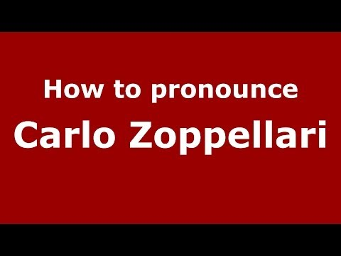 Audio and video pronunciation of Carlo Zoppellari brought to you by Pronounce Names (http://www.PronounceNames.com), a website dedicated to helping people pronounce names correctly. For more...