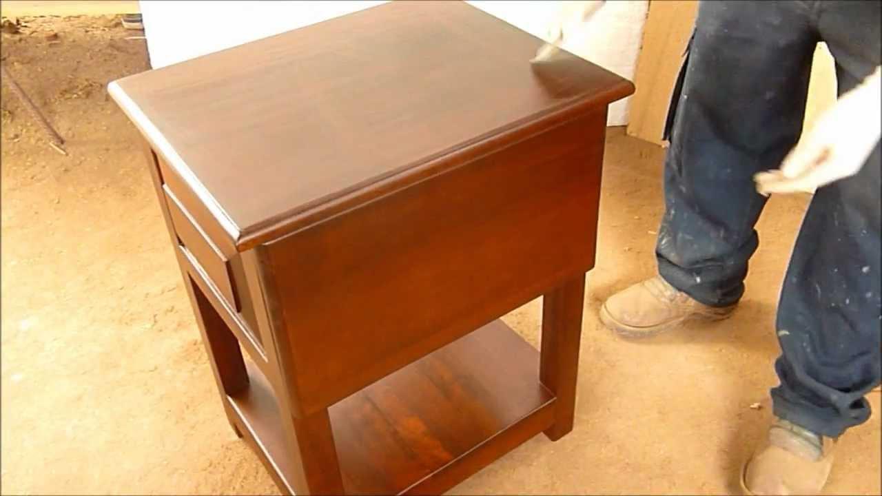 Como pintar mueble de madera o laqueo paso a paso youtube - Como lacar un mueble de madera ...