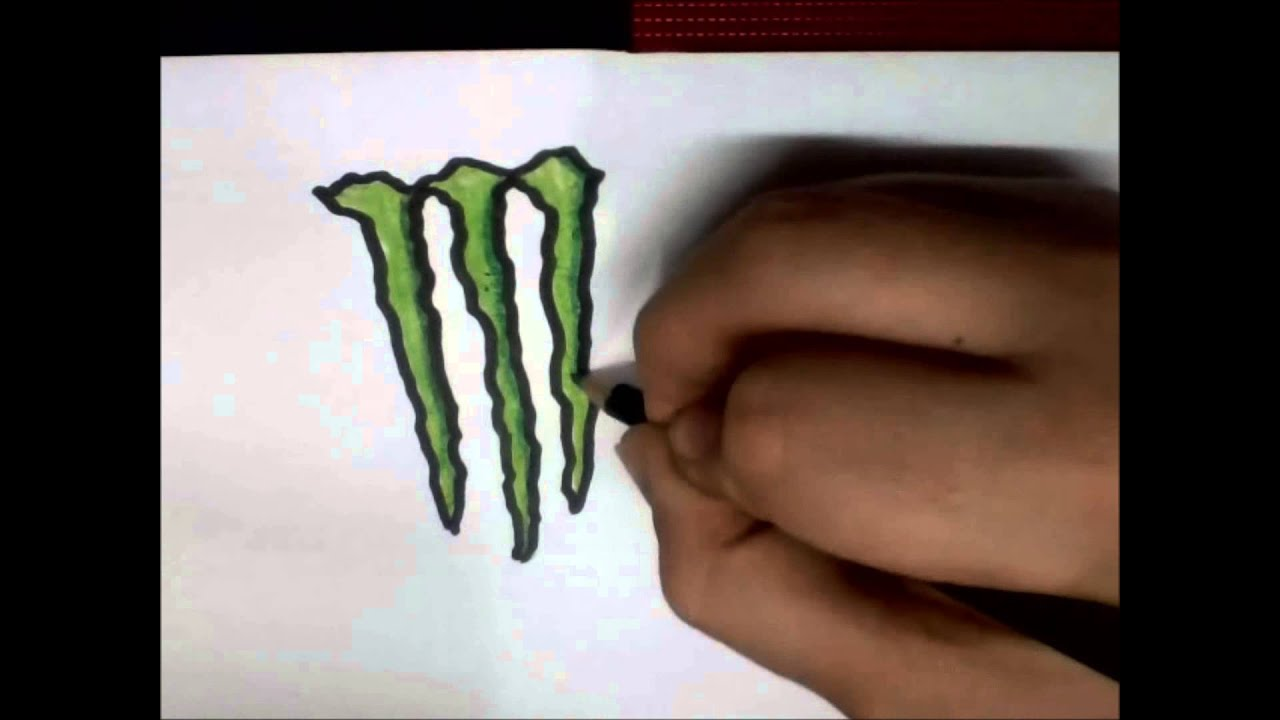 Drinks Drawing Drawing Monster Energy Drink