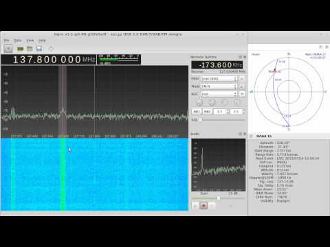 NOAA-15 weather satellite reception with rtlsdr