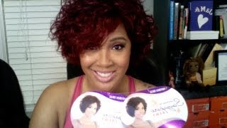 Motown Tress Human Hair Wig Hana in Color RedWine from HairStopandShop